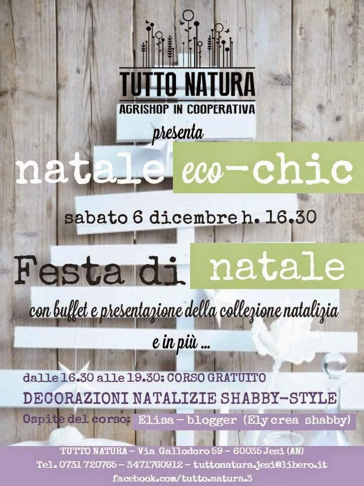 """Sabato 6 Dicembre """" Festa di Natale"""" c/o Tutto Natura - Via Gallodoro,59 Jesi(AN)"""