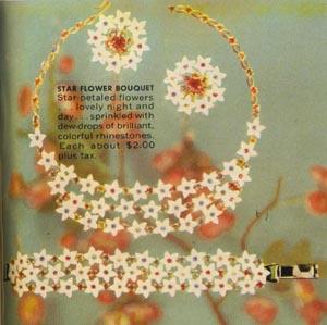 Vintage Star Flower Bouquet Jewelry Set