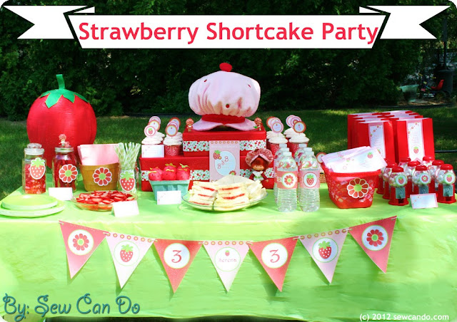 Sew Can Do: A Strawberry Shortcake Birthday Party, Thrifty-Style