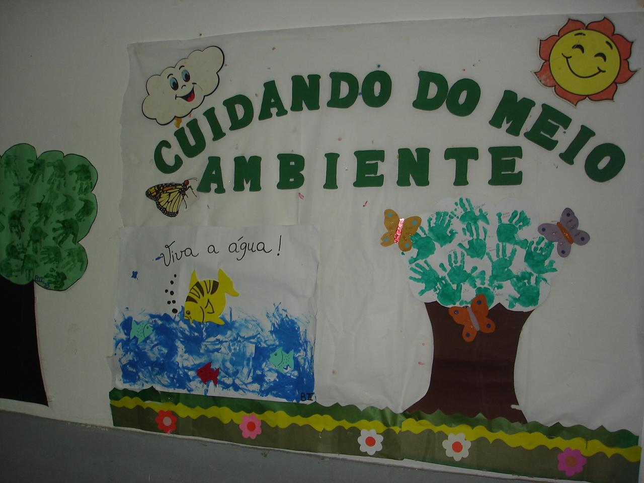 Menina arteir semana do meio ambiente for Mural sobre o meio ambiente