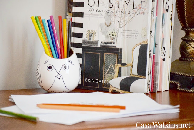 pencil holder kate spade inspired diy