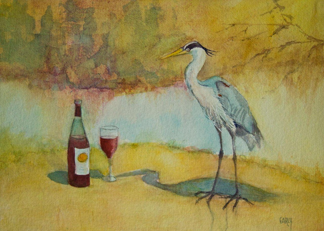 Representational art league humboldt county ca red wine for Red wine with fish