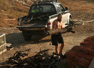 Hefting the heavy log