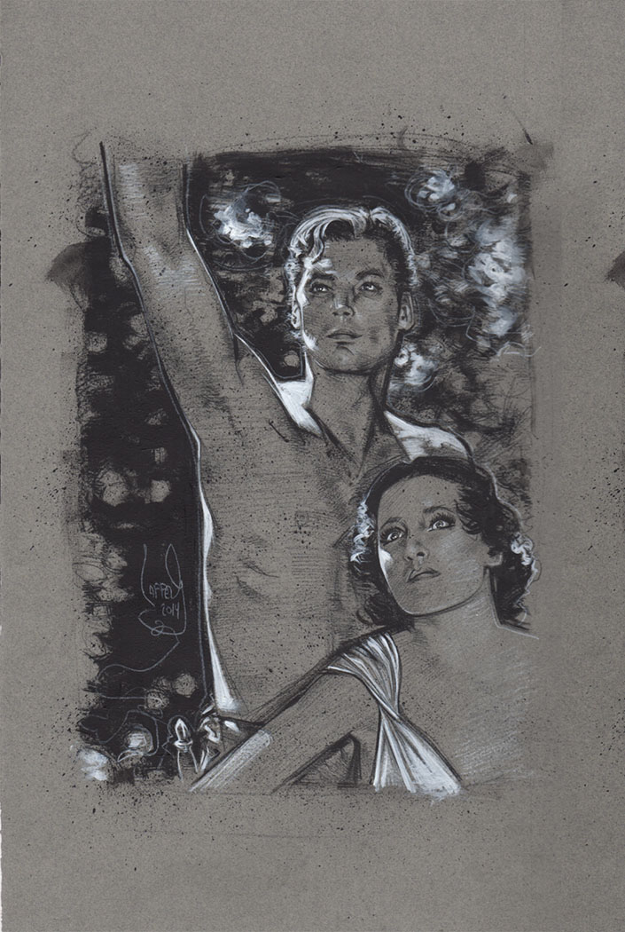 Johnny Weissmuller Tarzan, Original Artwork, Copyright © 2014 Jeff Lafferty