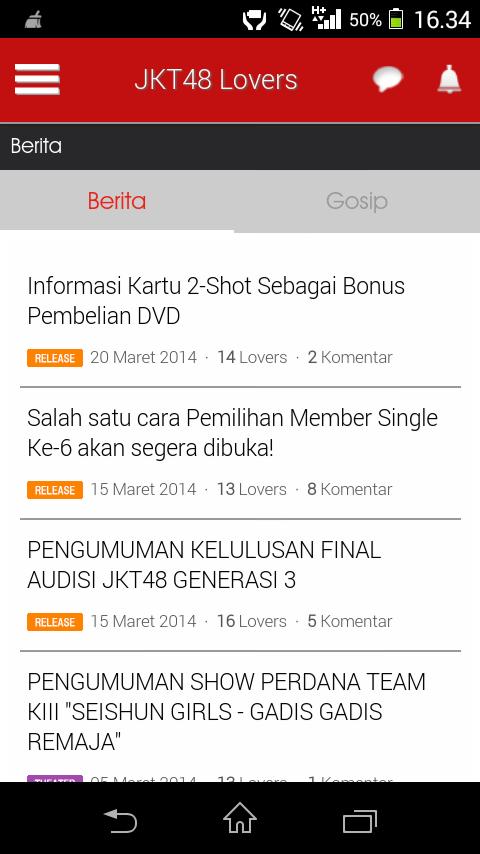 Download JKT48 Lover APK Aplikasi Wajib Buat Para Fans JKT48 di Android