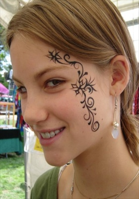 Face tattoo designs hot
