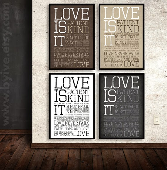 poster 1 corinthians 13 subway art love is byIve