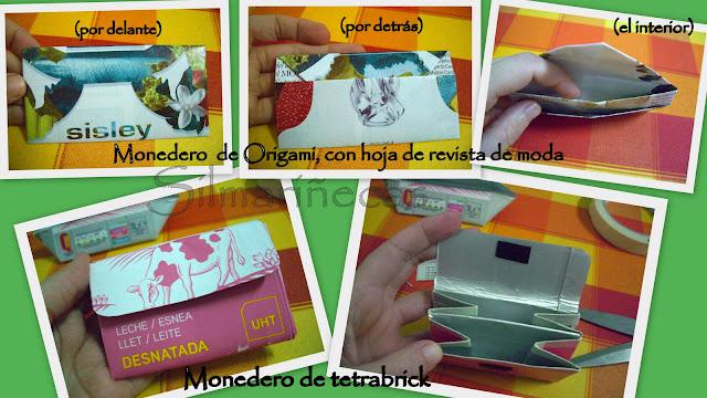 monederos de origami y tetrabrick