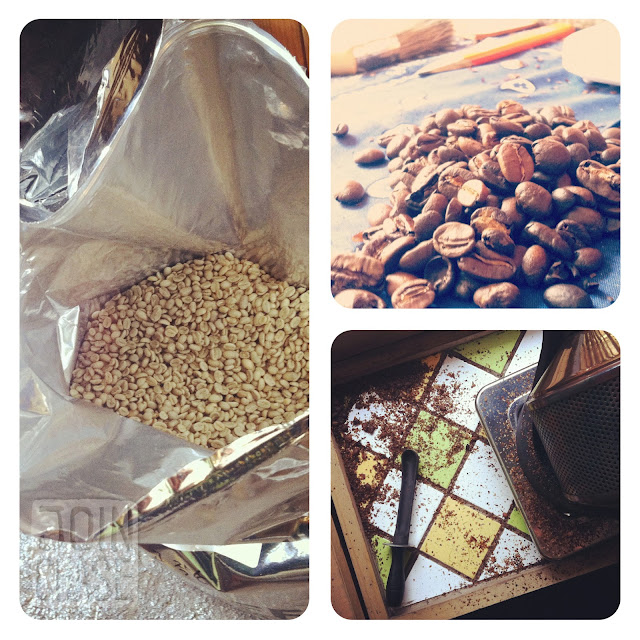 Roasting coffee beans from start to finish in Ochang, South Korea.