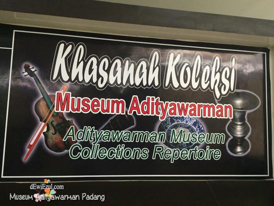khasanah Koleksi Museum Adityawarman Padang Sumbar