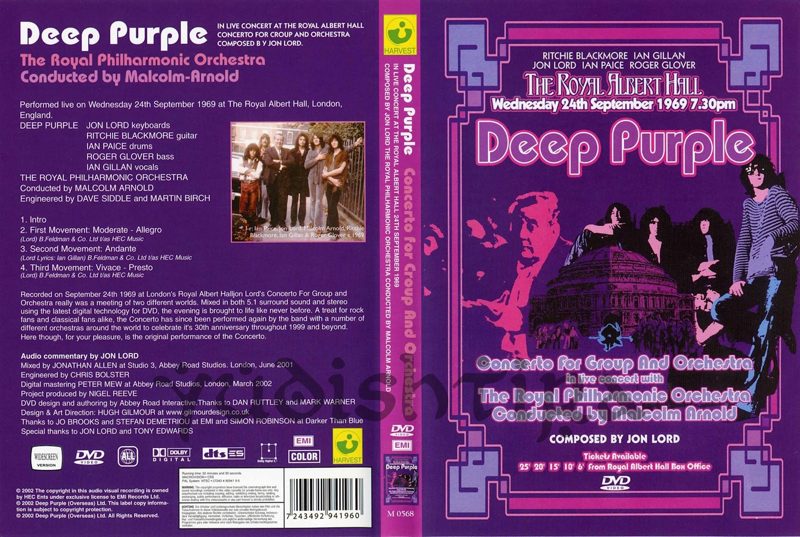 Deep Purple Royal Philharmonic OrchestraConducted By Malcolm Arnold Concerto For Group And Orchestra
