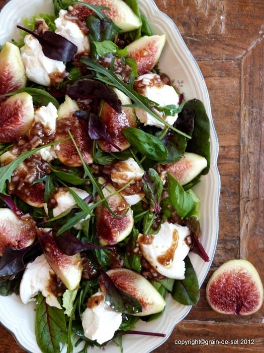Salat schafskase feigen