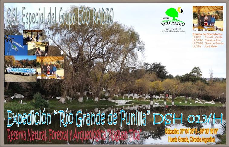QSL Expedición Río Grande de Punilla