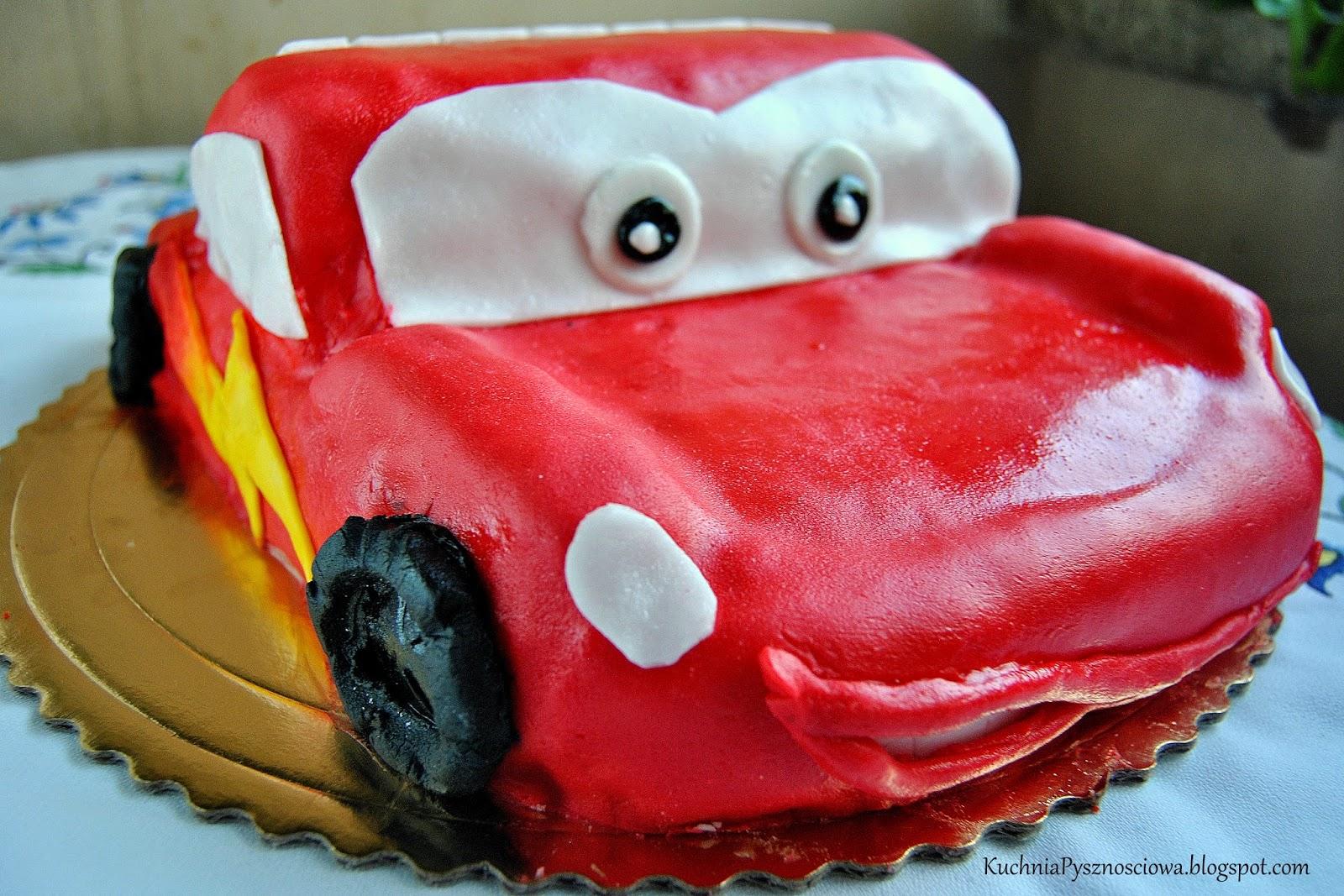 Zygzak McQueen, czyli tort auto