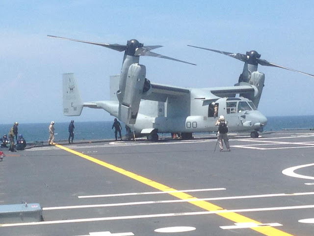 V-22 Osprey handling on HNLMS Karel Doorman