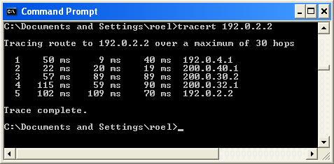 Tracert 192.0.2.2 (akhir)