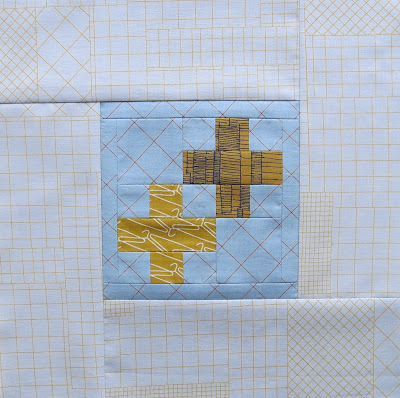 Modern sampler quilt - Block #17 - Inspired by Tula Pink City Sampler