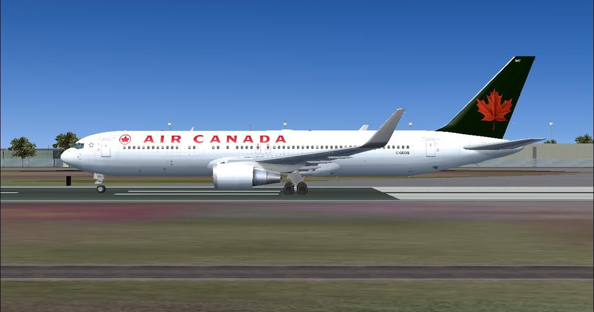 FS2004 - TEXTURAS AIR CANADA 767-300 LEVEL D ~ FS2004 ...