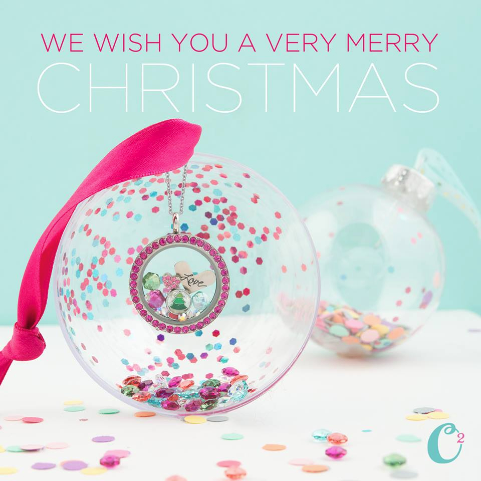 We wish you a Merry Christmas! Origami Owl at StoriedCharms.com