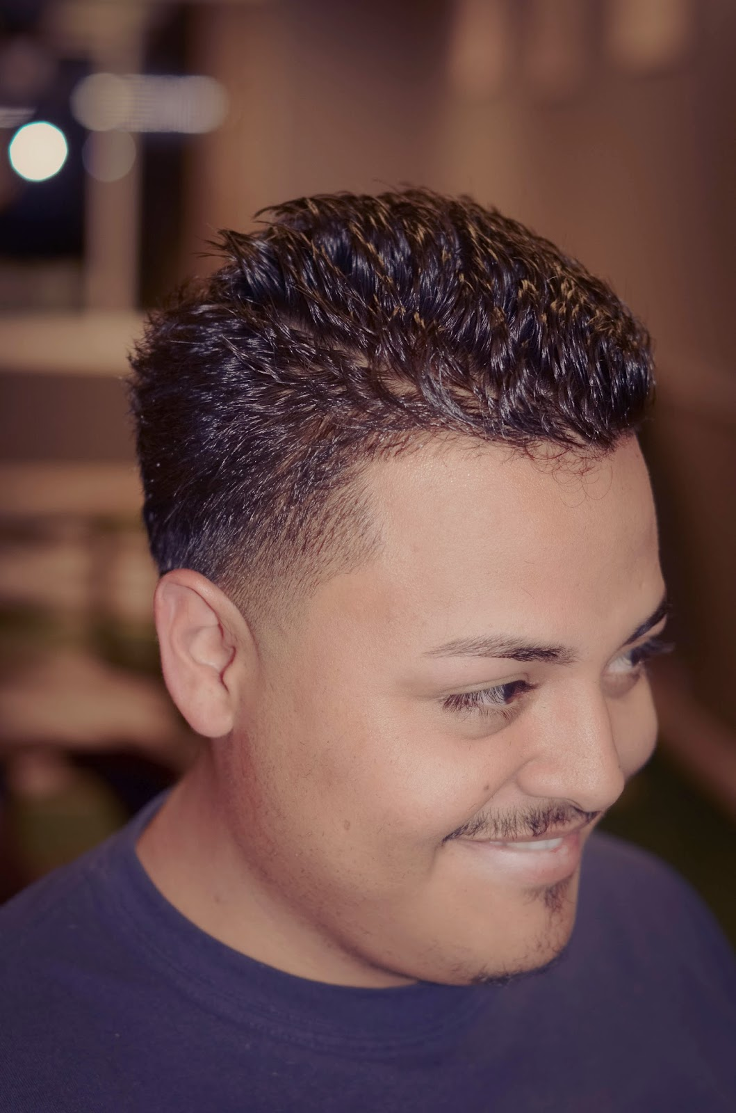 The Low Shadowed View Gives The Cut A Very Clean Look. Check Out Adrian,  Low Taper Fade.