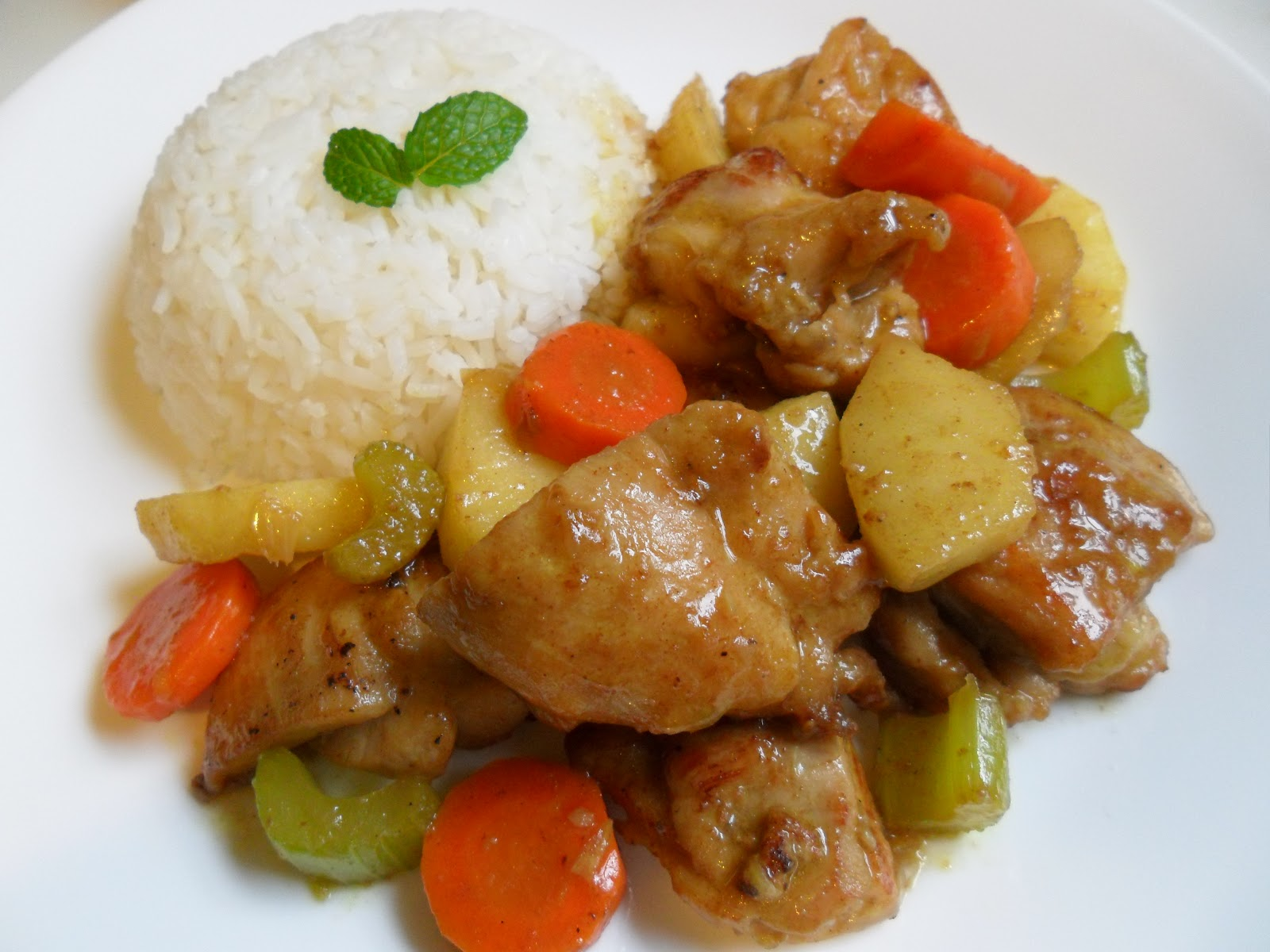 ... Soul Food: Chicken with Green Apple Curry Sauce- Ga Nau voi Tao Xanh