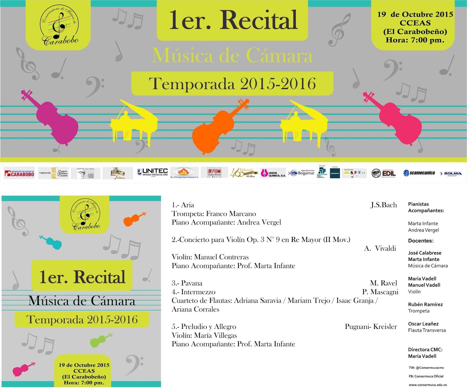 AmiMusica: Invitación al 1er Recital del CMC