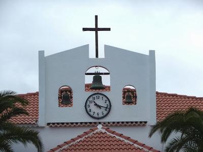 Arguineguín l'orologio della chiesa di Nuestra Señora del Carmen
