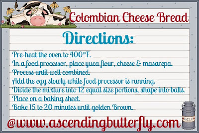 Columbian Cheese Bread Recipe Directions List English