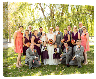 Christmas Gift: Family Wedding Framed Canvas from Banners.com