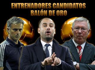 Los tres nominados al mejor entrenador del 2011