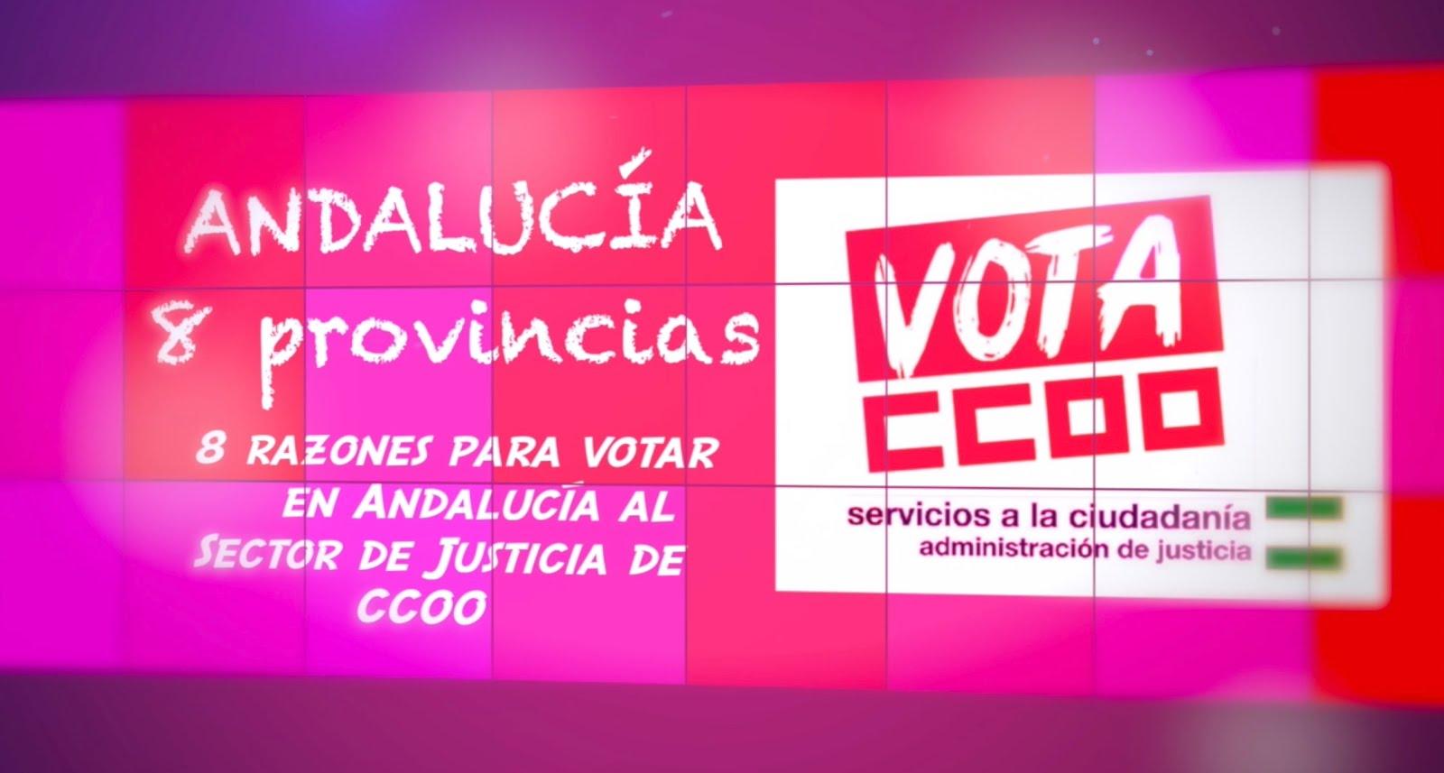 VIDEO ELECTORAL SECTOR DE JUSTICIA DE CCOO ANDALUCIA 2019