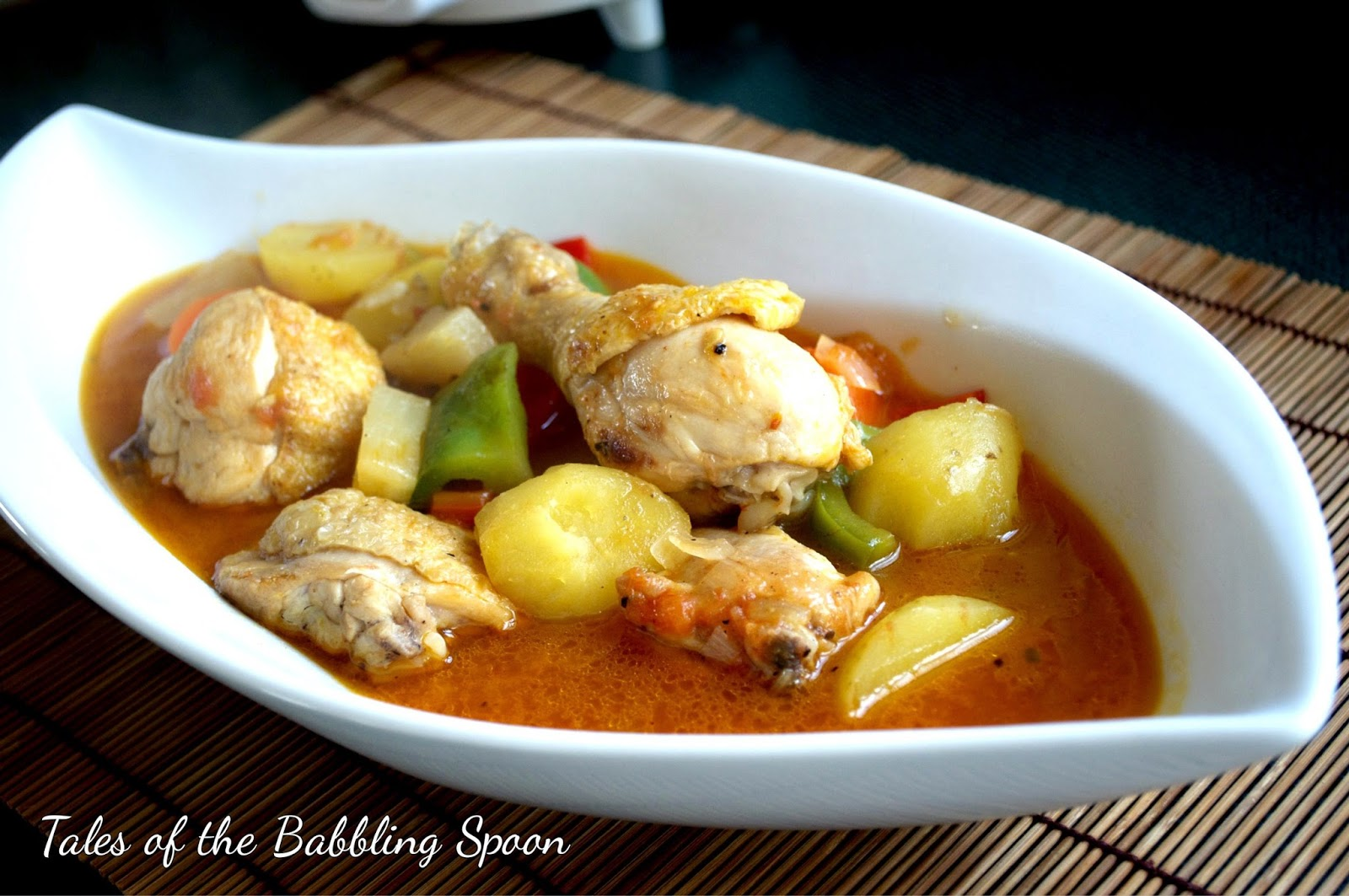 Tales of a babbling spoon chicken afritada recipe chicken afritada recipe forumfinder Image collections