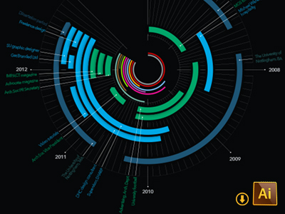infografia timeline vectores