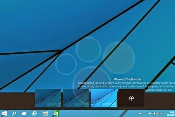 windows 9 workspaces çoklu masaüstü