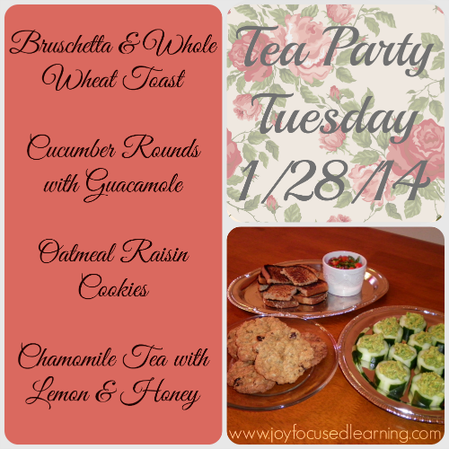 Tea Party Tuesday @ www.joyfocusedlearning.com