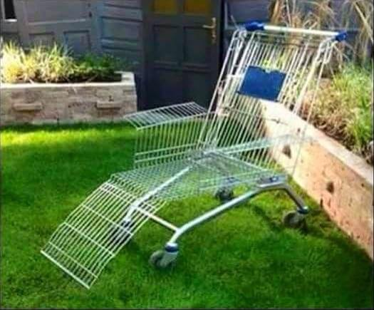 The Rusty Glider Repurposed Shopping Carts