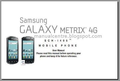 Samsung Galaxy Metrix 4G Manual Cover