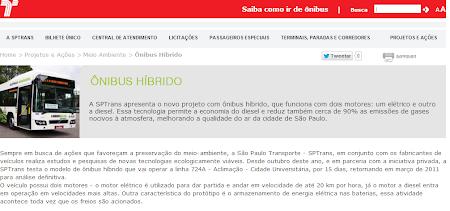 Onibus Hibrido.