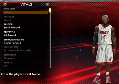Play as LeBron James in NBA 2K13's MyCareer