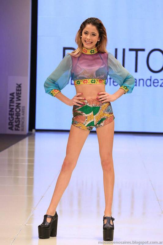 Benito Fernandez primavera verano 2015 moda. Martina Stoessel 2015.