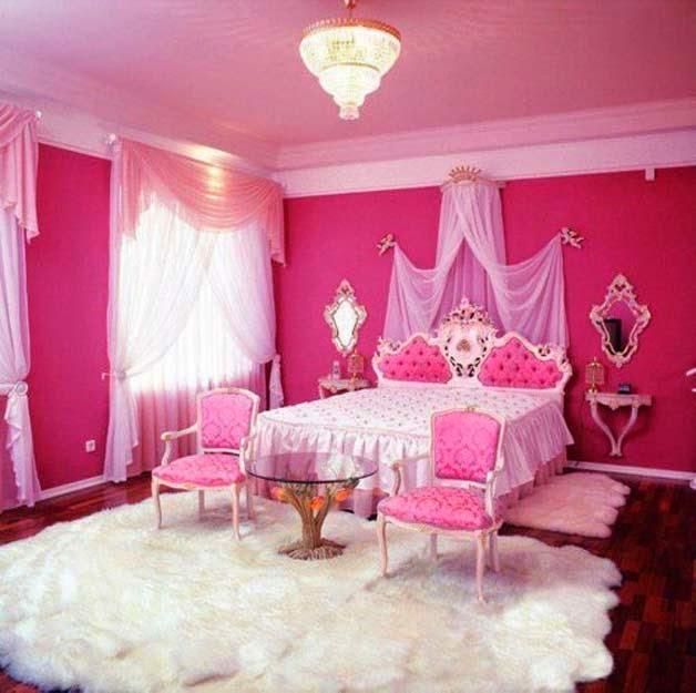 15 ideas de decoraciu00f3n de habitaciones para niu00f1as en color rosa ...