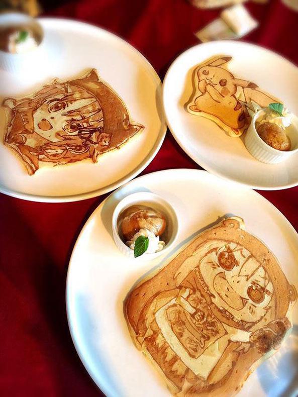 Restaurante japones hace increíbles panqueques artísticos