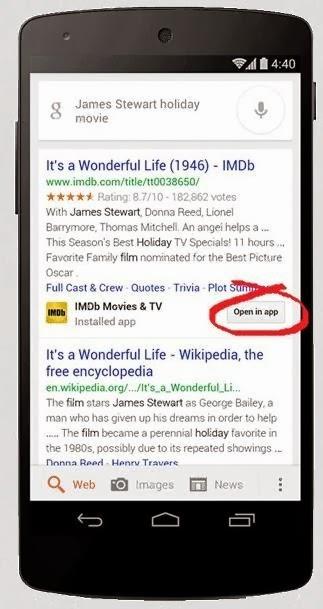محرك بحث جوجل موبايل يقترح تطبيقات في نتائج البحث