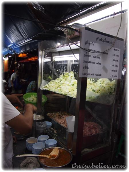 Sukiyaki stall at Khao San Road Thailand