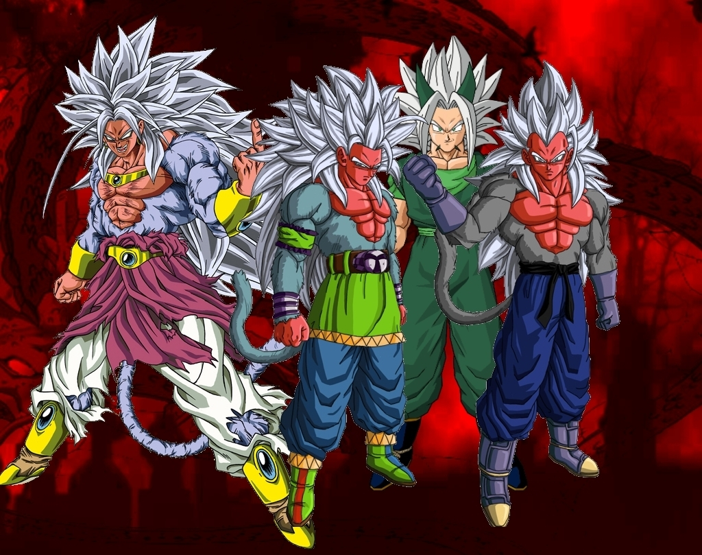 Dragon Ball Z: Dragon Ball AF (Son Goku, Vegeta, Broly)