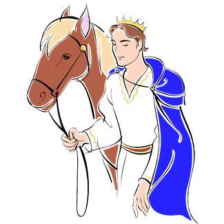 Prince and Princess Cartoon