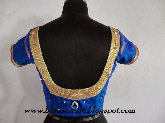 STONE WORK DESIGNER BACK NECK BLOUSE