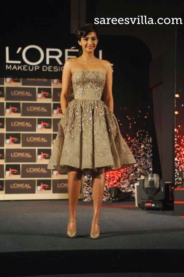Sonam Kapoor Unveiled New L'Oréal Paris Collection for Cannes Film Festival 2014
