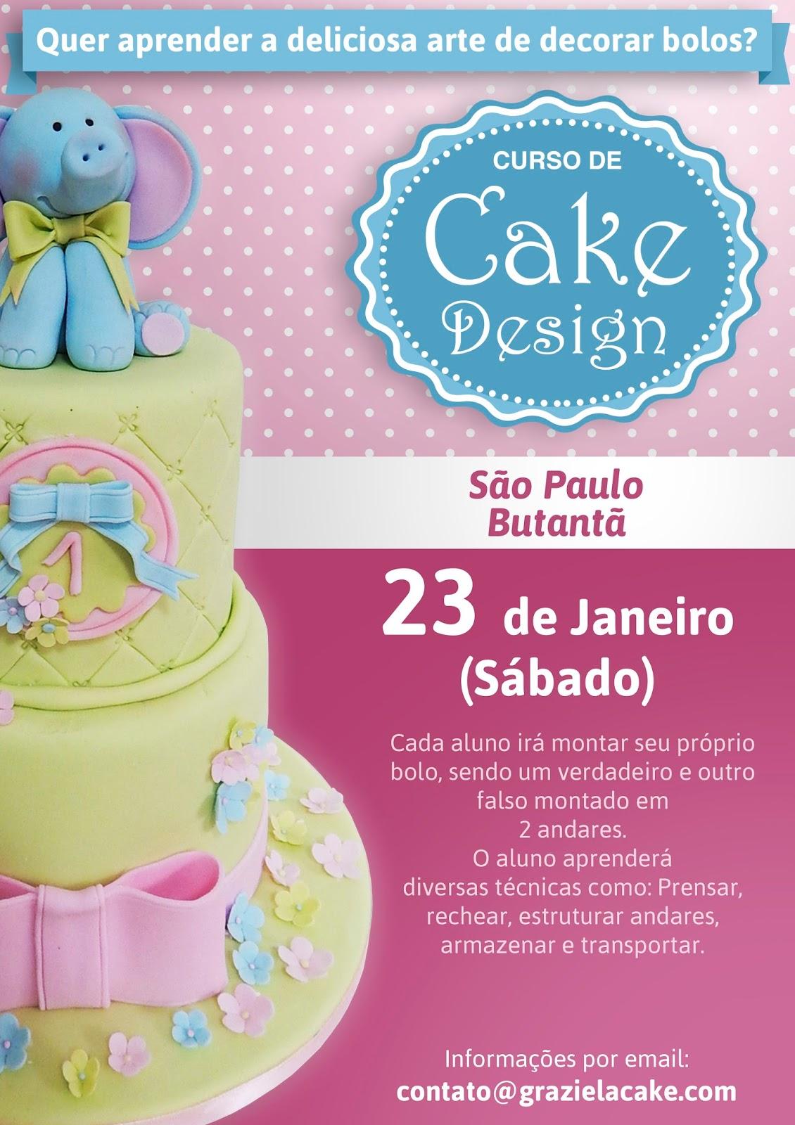 Curso De Cake Design Viseu : Graziela Cake: Curso Cake Design - Sao Paulo