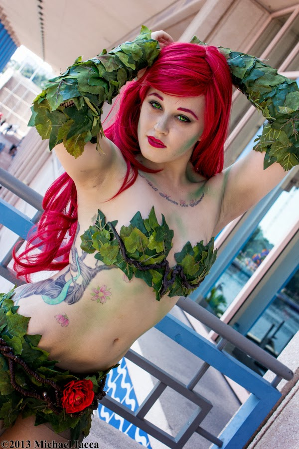 Poison Ivy 22 - Poison Ivy, from 'Batman' at Metrocon 2013.